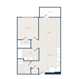 Hudson 5401 apartments one bedroom floor plan