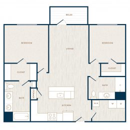 Hudson 5401 apartments two bedroom floor plan